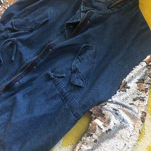 Jackets & Coats - Sequined sleeve jean jacket